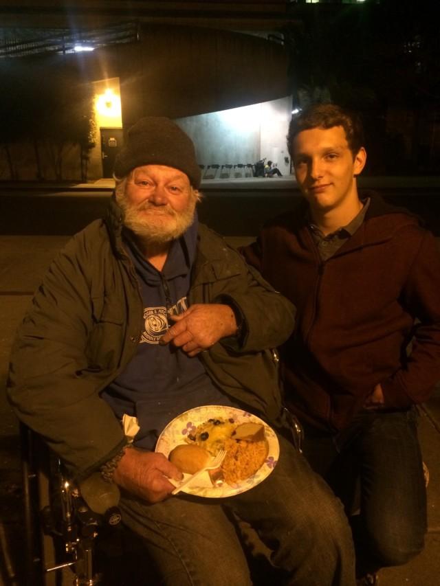 homeless man in wheelchair